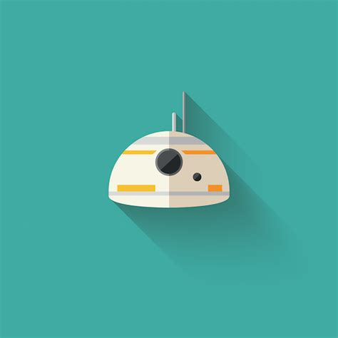 colorful flat icons  characters  star wars