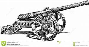 Antique cannon stock vector. Illustration of side, cannon ...