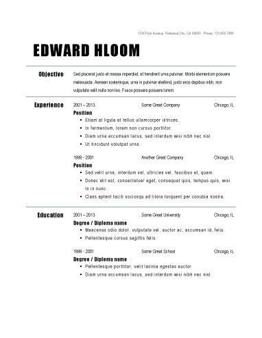 15266 free basic resume templates basic resume outline template best professional resumes
