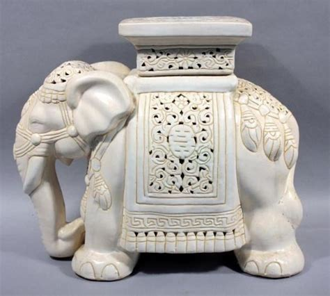 elephant plant stand large decorative large ceramic elephant plant stand approx 18 quot h