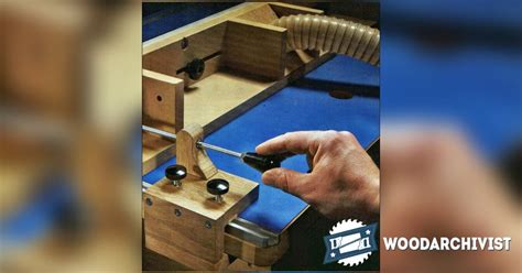 router table fence micro adjuster woodarchivist