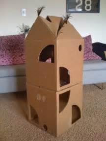 diy cardboard cat house call me a cat a bigger