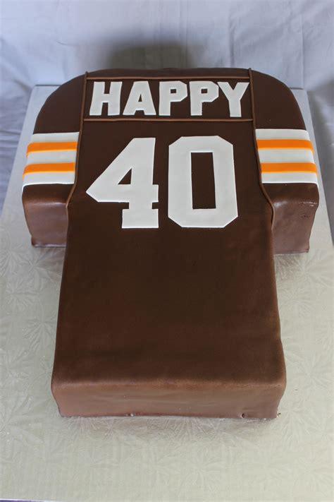 cleveland browns jersey cake cakecentralcom