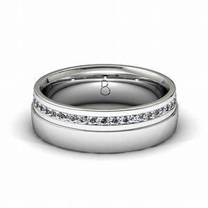 Platinum 950 mens diamond set wedding band 045ct for Wedding ring bands for men