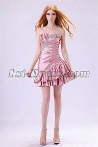Dusty Rose Cute Junior Prom Dresses Short 2013:1st-dress.com