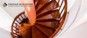 finition rampe escalier lartisan du plancher 514 232 3465 With peindre un escalier en bois 16 les 25 meilleures idees concernant salle de bain marron