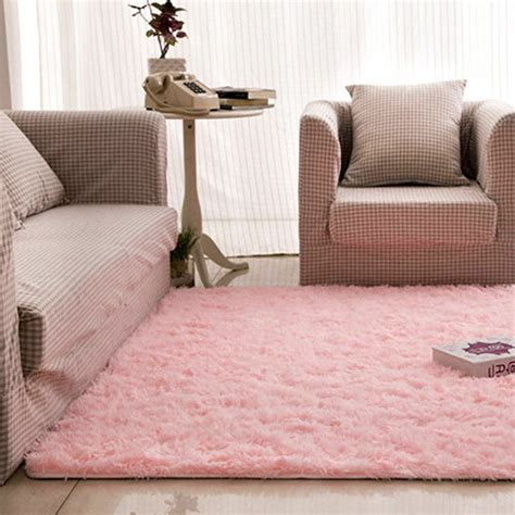 pink bedroom rug 4 x 5 soft living room carpet shag rug for dining 12847 | s l1000