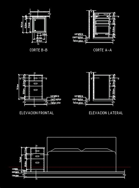 cajon melamine dwg detail  autocad designs cad