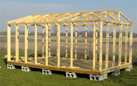 16x20 shed plans all wall and roof framing is from solid wood 2x4 s no skimpy 2x3 s or