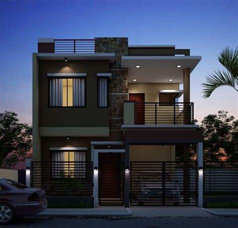 rectangle shape exterior design  individual home exteriordesign zen house design