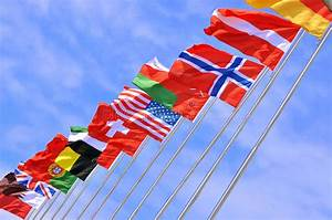 National Flags Of Different Country Stock Photo - Image ...