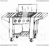 Bbq Grill Clipart Gas Illustration Vector Royalty Holmes Dennis Designs Law sketch template