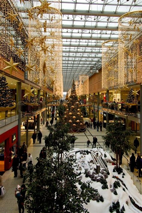 large shopping mall center  berlin decorated
