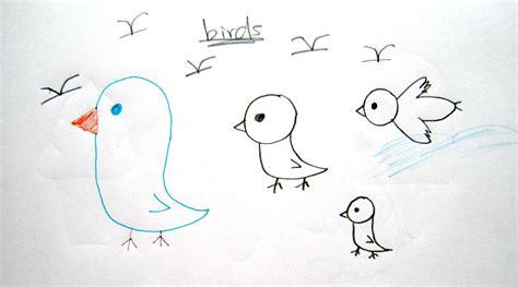 draw cartoon birds easy drawing tutorial