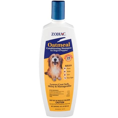 zodiac oatmeal conditioning shampoo  dogs puppies