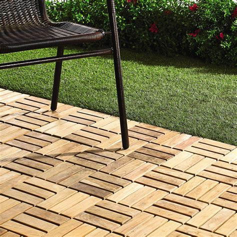 12 x 12 teak patio flooring tiles 10 pack