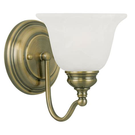 Antique Bathroom Lighting Fixtures by 1 Light Livex Essex Antique Brass Bathroom Vanity Lighting