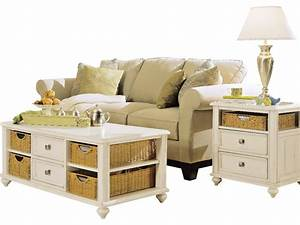american drew camden light 3 piece coffee table set in With white 3 piece coffee table set