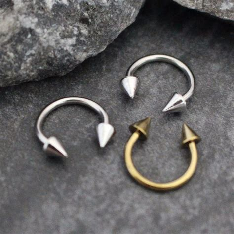arrow horseshoe barbell  septum ring eyebrow ring