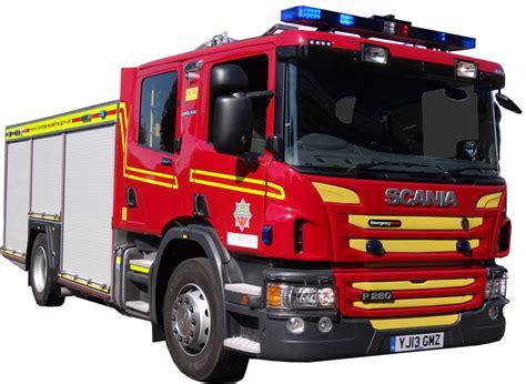 scania fire engine transparent background