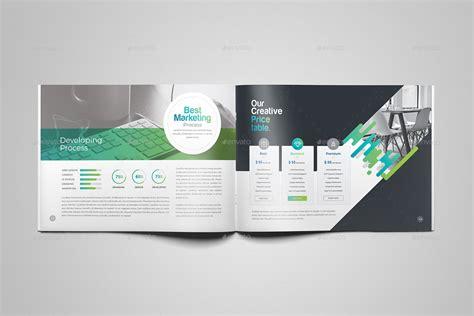 Company Profile Brochure Template Company Profile Landscape Brochure Template By Generousart