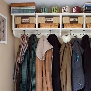 Organised cloakroom Storage decorating ideas