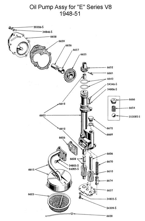 1951 Simca Wiring Diagram by Flathead Parts Drawings Engines