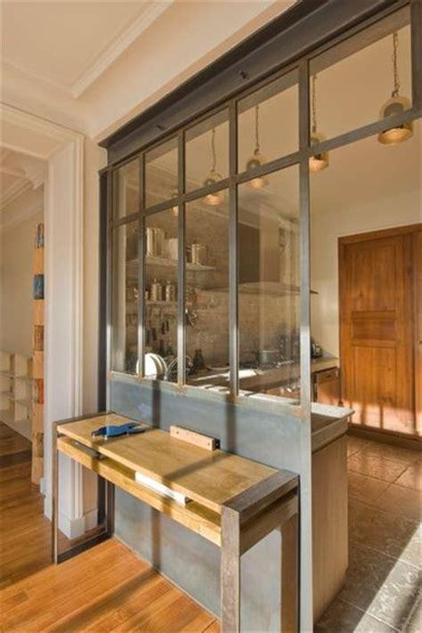 verriere interieure cuisine une verrière intérieure au style industriel dans la cuisine
