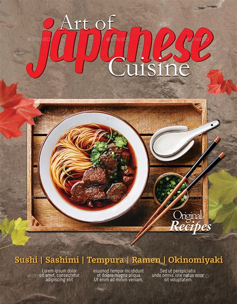 poster cuisine japanese restaurant flyer poster template 2 psd by