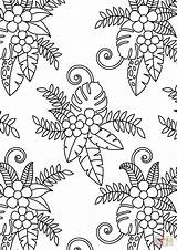 Coloring Pattern Floral Pages Printable Adults Drawing Colorings Dot Categories sketch template
