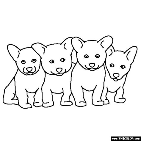 dog coloring pages print color craft