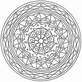 Mandala Coloring Tarot Therapy Mandalas sketch template