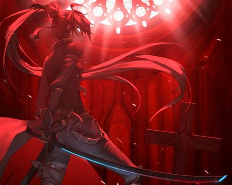 Anime Bloody Wallpaper - hair anime anime blood cross
