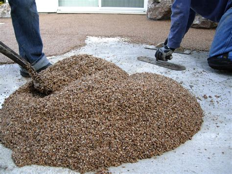 Epoxy Pebble Flooring Products by Laying A Pebble Patio How Tos Diy