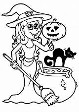 Halloween Coloring Pages Children Printable Sheets Justcolor sketch template