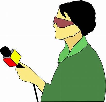 Reporter Journalist Clipart Tv Newscaster Clip Interviewer