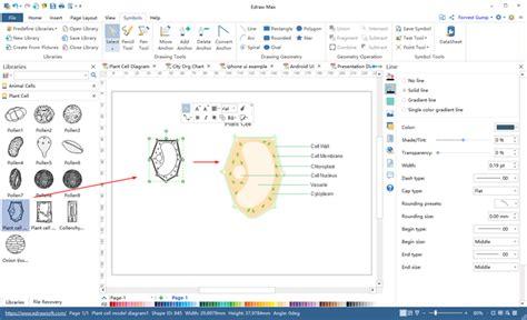 biology diagram  illustration software start biology