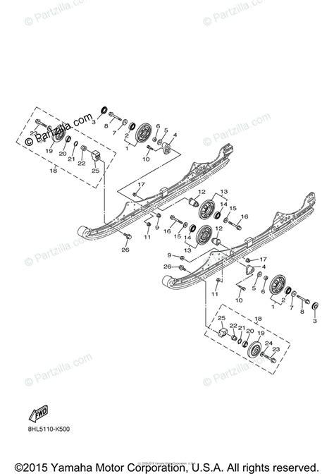 yamaha snowmobile 2011 oem parts diagram for alternate track suspension partzilla