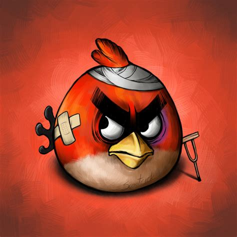 Angry Bid by What Angry Birds Look Like After Fighting The Pigs