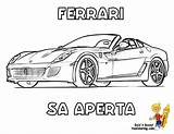 Ferrari Coloring Ausmalbilder Aperta Yescoloring Sketch Sa Italian Autos Konabeun Racing Outline Race Workhorse Printables Template Malvorlagen Kostenlos Malvor sketch template