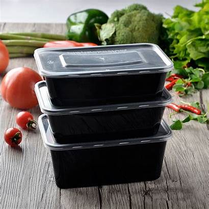 Takeaway 750ml Seller Container Disposable Microwaveable Rectangular