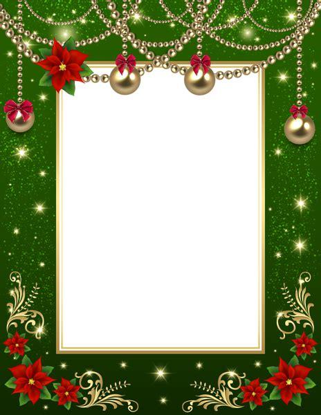 christmas transparent png photo frame green christmas