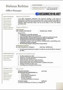 Resume Samples For Supervisor Office Manager 2018 Resume Samples In Word Resume 2018
