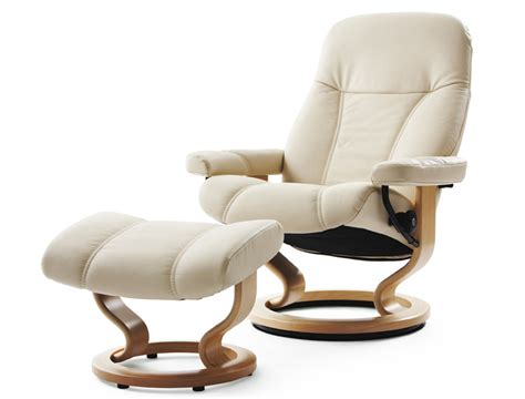ekornes stressless consul leather recliner