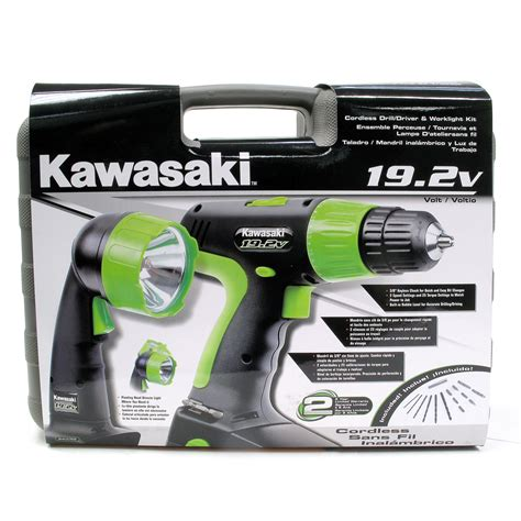 Kawasaki 19 2v Battery Charger by Kawasaki 174 19 2v Cordless Drill Cordless Worklight Set