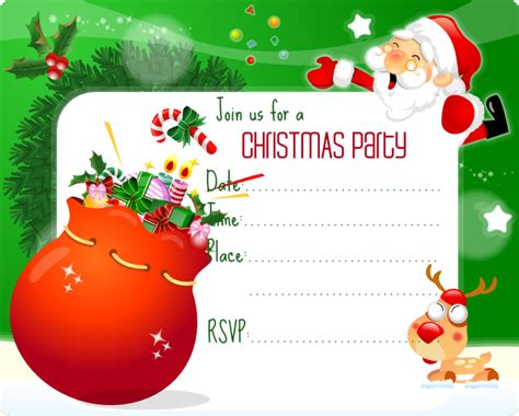 printable christmas invitations free christmas party invitation printable best gift