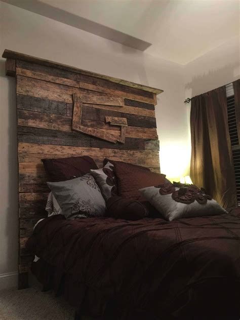 queen size pallet bed headboard  pallets