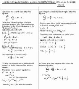 Differential Equations - MATH100 Revision Exercises ...
