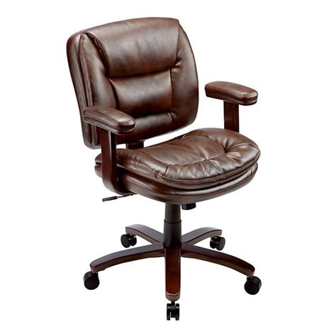 Office Chairs Office Depot by Realspace Elmhart Low Back Bonded Leather Task Chair