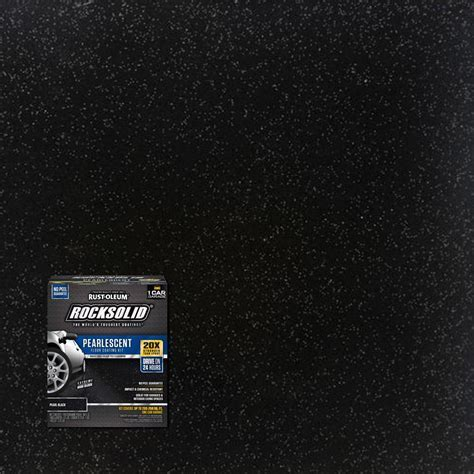 Rust Oleum RockSolid 76 oz. Pearlescent Pearl Black Garage